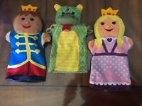 Melissa & Doug Palace Pals hand puppets Queen King Dragon Royal castle toy
