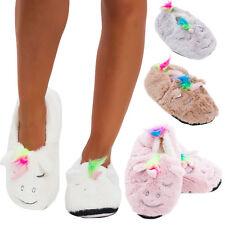 Ciabatte donna UNICORNO pantofole babbucce eco pelliccia pelo moda basse JH7781