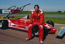 Jacques Villeneuve Signed 8X12 Inches Ferrari Gilles Car Photo