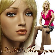 Female mannequin full body, Sitting handmade manikin for car show,Joan+1pedestal