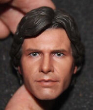 """1:6 Scale Young Harrison Ford Head Carved Han Solo Head Sculpt Model F 12"""" Body"""
