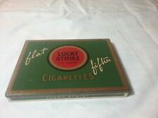 Vintage Lucky Strike Flat Fifties Cigarettes Hinged Tin Case