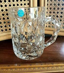 Tiffany & Co Rock Cut Crystal Beer Tankard Stein Mug Rockwell