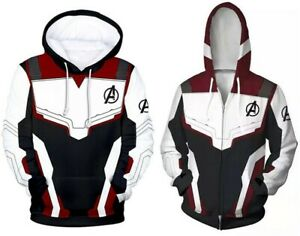 Avengers 4 Endgame Quantum Battle Suit Adult Hoodie Sweatshirt Jacket Unisex