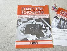 COMPUTER-SCHACH & SPIELE Heft 1 April 1984, mit Flyer & Bestellkarte, Mephisto 3