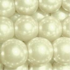 50 pieces 10mm Glass Pearl Beads - Cream - A1220