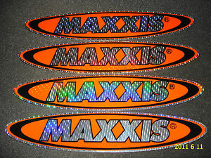 4X8inch AUTHENTIC HOLOGRAPHIC MAXXIS TYRES / TIRES STICKERS / DECALS