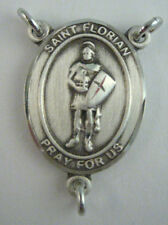 St. Florian Rosary Centerpiece - Sterling Silver 8876