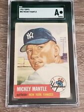 * 1953 Topps Mickey Mantle #82 - SGC A Authentic (Looks GD+) *NEW LABEL*