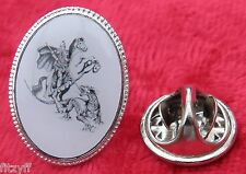 St George Lapel Hat Cap Tie Pin Badge Religious Holy Saint Metal Brooch Type2