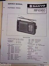 SANYO Vintage Original Digital Portable Radio RP6160 Service Manual