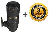 Nikon AF-S Nikkor 70-200mm f/2.8G ED VR II Lens + 3 Year Extended Warranty! New