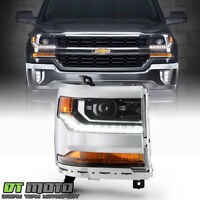 2016-2018 Chevy Silverado 1500 HID/Xenon LED DRL Projector Headlight - Passenger