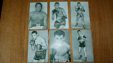 ** RIDOTTO ** 6 Assortiti Vintage Boxing Il reperto carte Constance Saddler Martinez