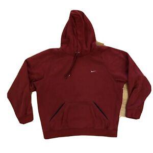Nike Essential Red Mini Swoosh Pullover Hoodie Sweater Travis Scott Medium Flaws