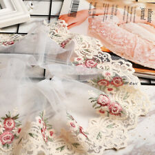 1 Yard for Lace Edge Trim Ribbon Wedding Applique Flower Sewing Embroidered DIY