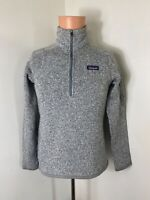 Patagonia women's Heather gray 1/4 zip pullover better sweater size small