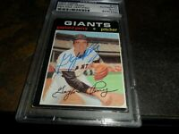 1971 Topps #140 GAYLORD PERRY Signed AUTO SAN FRANCISCO GIANTS PSA/DNA Authentic