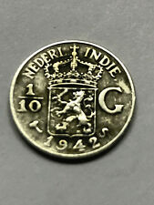 1942-S Netherlands East Indies 1/10 Gulden VF #7067