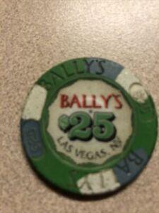 $25 bally's vintage  las vegas nevada casino chip super rare