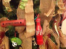 (50) Coca Cola Christmas ornament rubber bottle cap top topper, (New)
