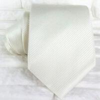 Pearl white Necktie silk Morgana brand Italy wedding / business men's ties