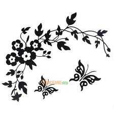 Butterfly Flower Bathroom Toilet Seat Wall Stickers Home Decor Vinyl Art Decals