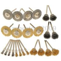 """24pcs 2"""" Stainless Steel Brass Wire Brush Polishing Wheel Cup For Rotary Tool"""