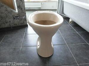 Stand WC-Topf Flachspüler beige bahamabeige Abgang Waagerecht gute Verarbeitung
