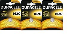 3 Batterie al litio 3v DL1620 / CR1620 DURACELL DLC 2024