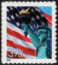 USA Sc. 3978 39c Flag & Liberty 2006 MNH SA pane single