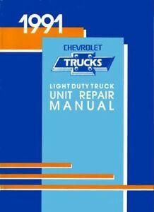 OEM Repair Maintenance Shop Manual Chevy Truck C/K 10-30 Series Overhaul 1991