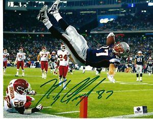 Rob Gronkowski New England Patriots Signed Autographed 8x10 Photo COA