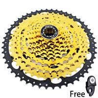 VG Sports MTB Bike 10 Speed 11-50T Cassette Flywheel Gold fit Sram Shimano HG500