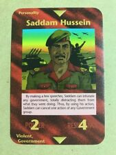 1996 Illuminati: New World Order Limited #NoN Saddam Hussein Gaming Card 3v2