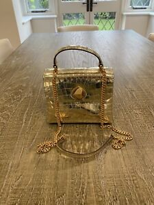"Kate Spade Gold Mock Crock Leather ""Romy"" Bag/RRP $230"
