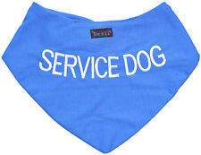 SERVICE DOG Blue Color Coded New Embroidered Message Pet Scarf Neckerchief Puppy