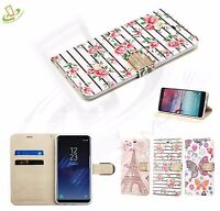 For Samsung GALAXY S9 / PLUS Diamond BLING Leather Flip Wallet Case Cover Pouch