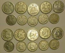 "Monaco Lot 10 coins 1 + 2 Francs 1943 (ND) "" Aluminium """