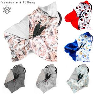 Einschlagdecke für Babyschale Kinderwagen Decke Babydecke Fußsack Herbst/Winter