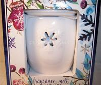 Bath & Body Works Electric White Ceramic Snowflakes Fragrance Wax Melt Warmer