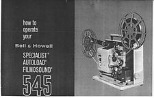 Bell & Howell 545 Specialist Autoload Filmosound Instruction Manual photocopy