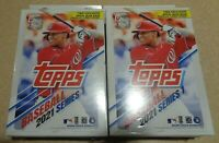 ✅⚾️🔥 Topps Baseball 2021 Series 1 Hanger Box - 67 Cards-Factory Sealed
