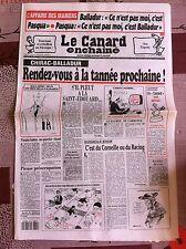 Le Canard Enchainé 5/1/1994; L'affaire des Iraniens, Balladur et Pasqua