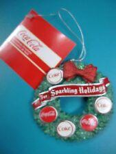 Kurt Adler Coca-Cola Christmas Ornament Wreath NEW