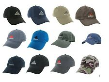 Mens Adidas Weekend Warrior and Ultimate Relaxed Cap Hat OSFA Black Navy Brown