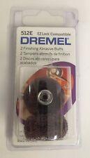 Dremel 512E Finish 320-Grit Sanding Abrasive Buff for EZ402 Lock Mandrel, 2-Pack