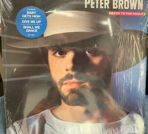 PETER BROWN Back To The Front LP 1983 RCA AFL1-4604 INNER SHRINK HYPE STICKER
