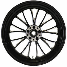 MANHATTAN FRONT BLACK WHEEL 18 X 3.5 HARLEY SOFTAIL FLSTF FAT BOY FLSTN DELUXE