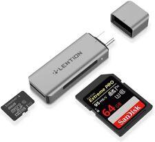 Adaptador de tarjeta SD para tipo C a dos lector de tarjetas adaptador on-the-go Para Macbook Pro